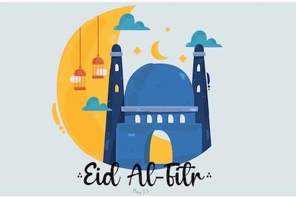 Eid Al-Fitr Illustration
