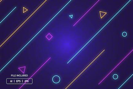 Neon glow line background