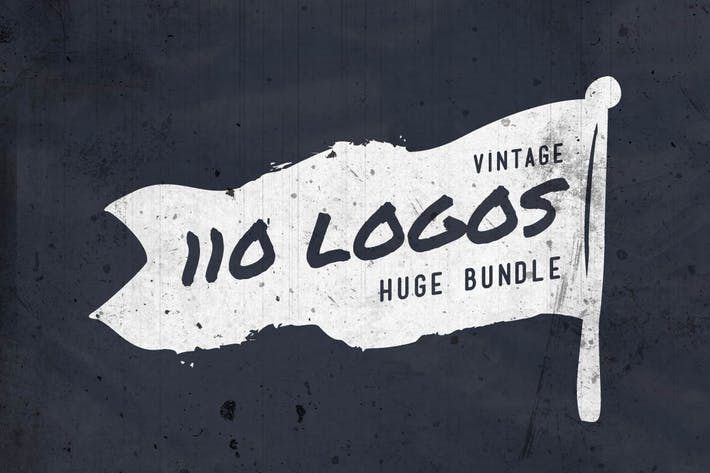 Thumbnail for 110 Vintage Logos Bundle