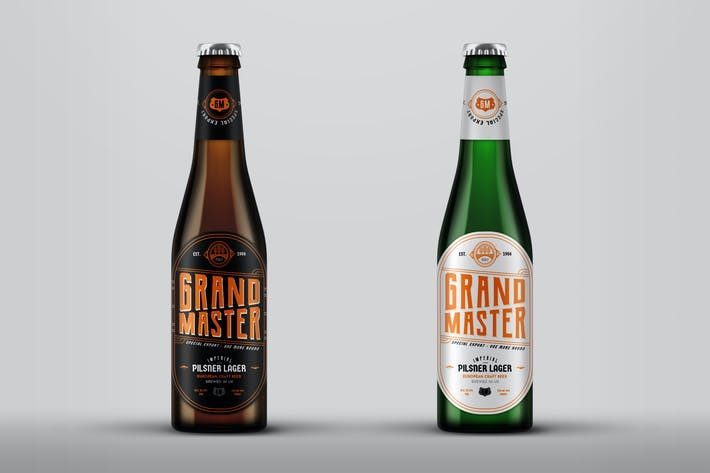 Thumbnail for Lager Beer Bottle Mock-Up