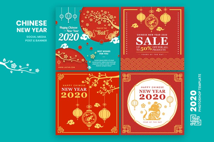 Thumbnail for Chinese New Year Social Media Post Template