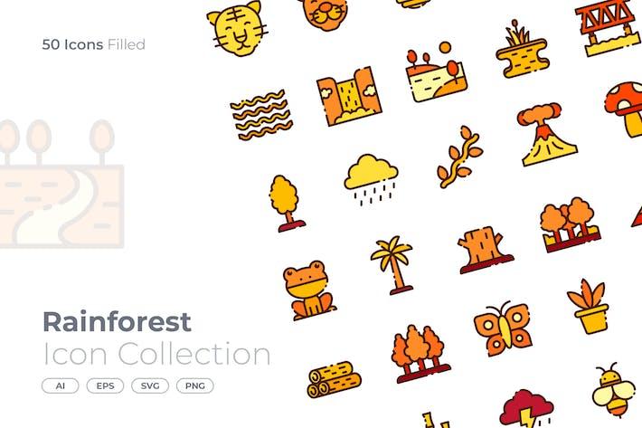 Thumbnail for Regenwald gefülltes Symbol