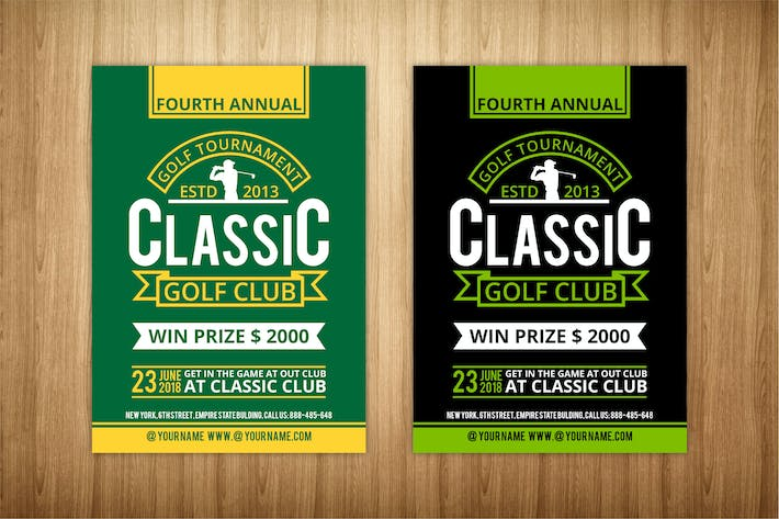 Thumbnail for golf flyer template