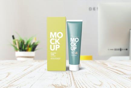 Cream Tube & Box Mockups