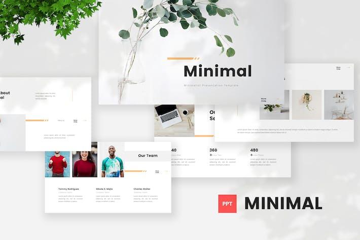 Thumbnail for Минималистский шаблон PowerPoint
