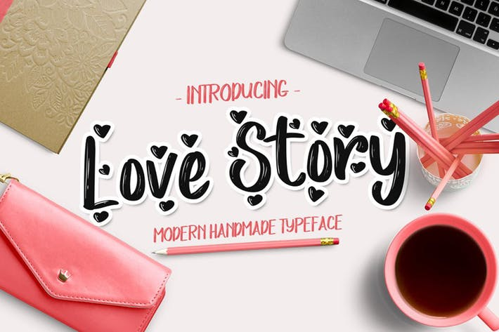Thumbnail for Love Story Typeface