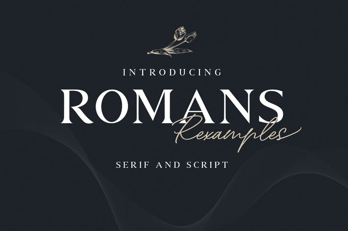 Thumbnail for Romans Rexamples Font Duo