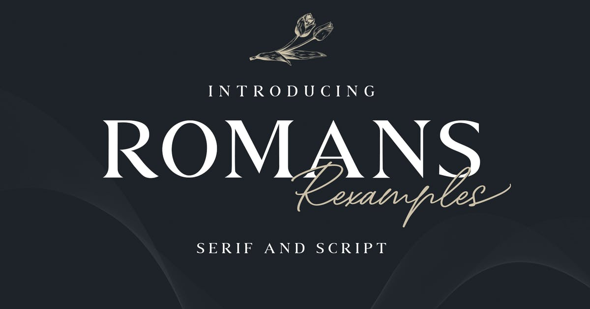 Download Romans Rexamples Font Duo by Cotbada-studio