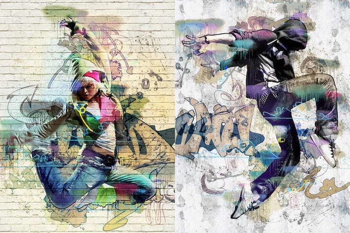 Thumbnail for Street Art Photoshop Action