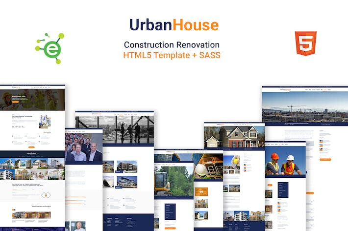 Thumbnail for UrbanHouse- Construction Renovation HTML5 Template