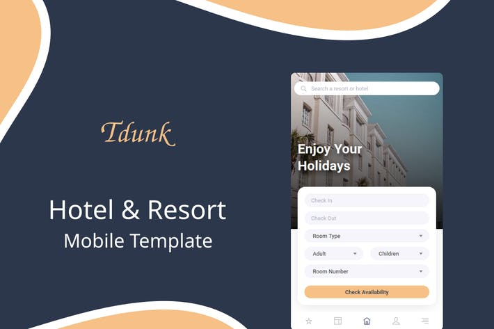 Thumbnail for Tdunk - Hotel & Resort Mobile Template