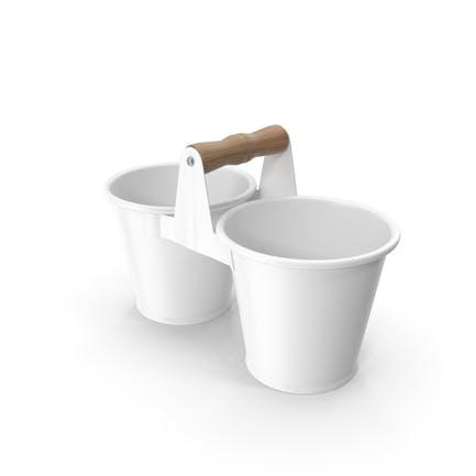 Twin Pot White