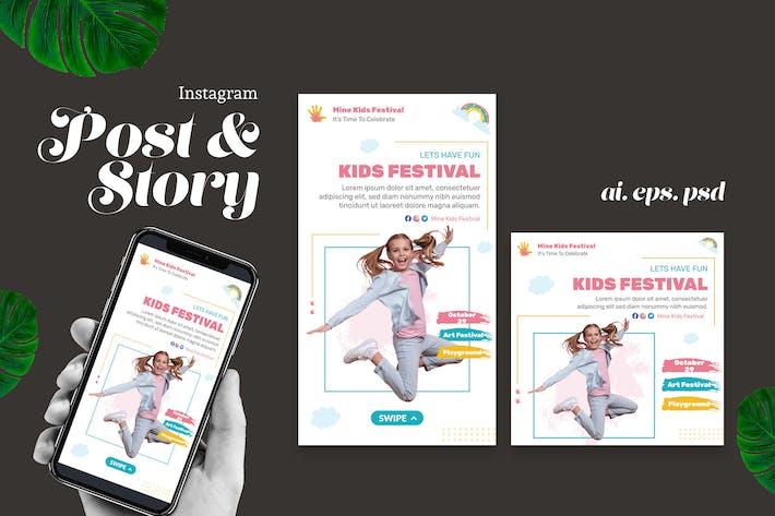 Thumbnail for Kid Festival Instagram Story Post