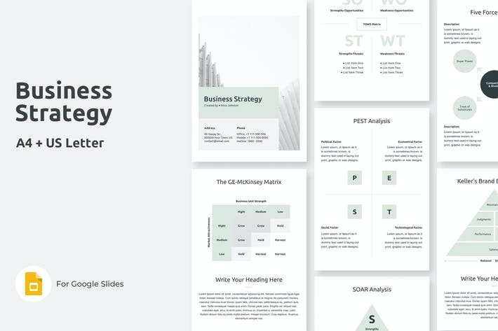 Business Strategy Vertical Google Slides Template