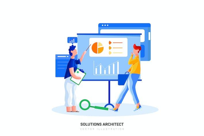 Lösungen Architekt Vektor illustration
