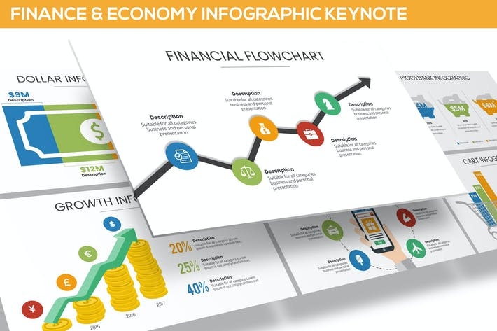 Thumbnail for Finance & Economy Infographic for Keynote