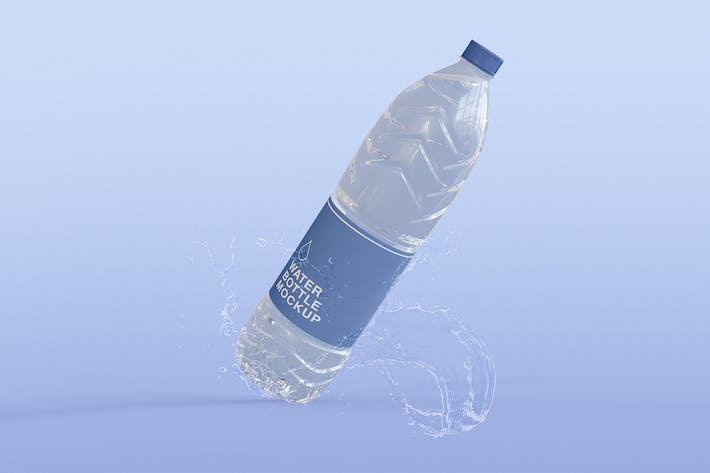 Thumbnail for Clear Water Bottle Mockup