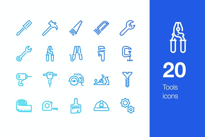 Thumbnail for 20 Tools icons