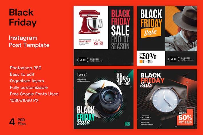 Thumbnail for Black Friday Instagram Banner Vorlagen | Verkauf