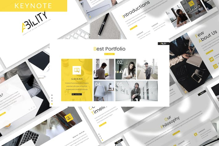 Thumbnail for Ability - Business Keynote Template