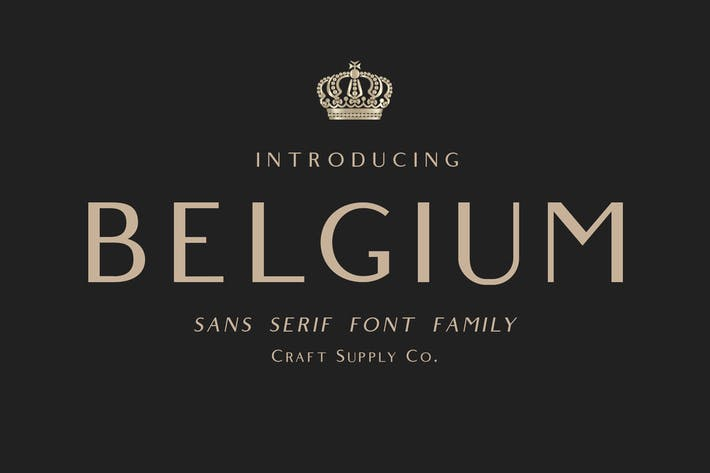 Cover Image For Belgium Font Family