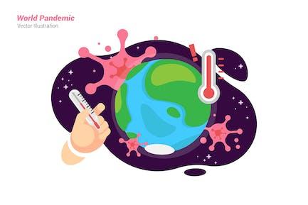 World Pandemic - Vector Illustration