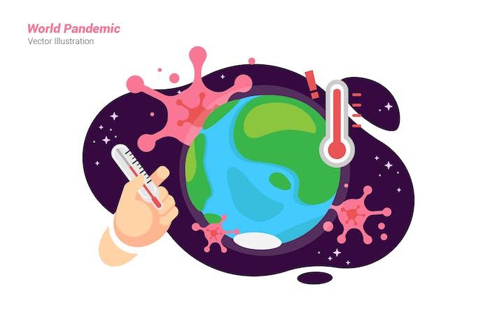 Thumbnail for Weltpandemie - Vektor illustration