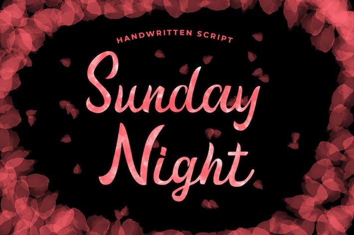 Thumbnail for Fuente de escritura manuscrita del domingo por la noche