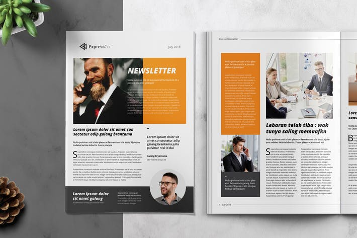Thumbnail for Express Business Newsletter Template