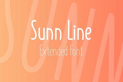 SUNN Line Extended Font
