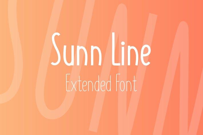 Thumbnail for SUNN Line Extended Font