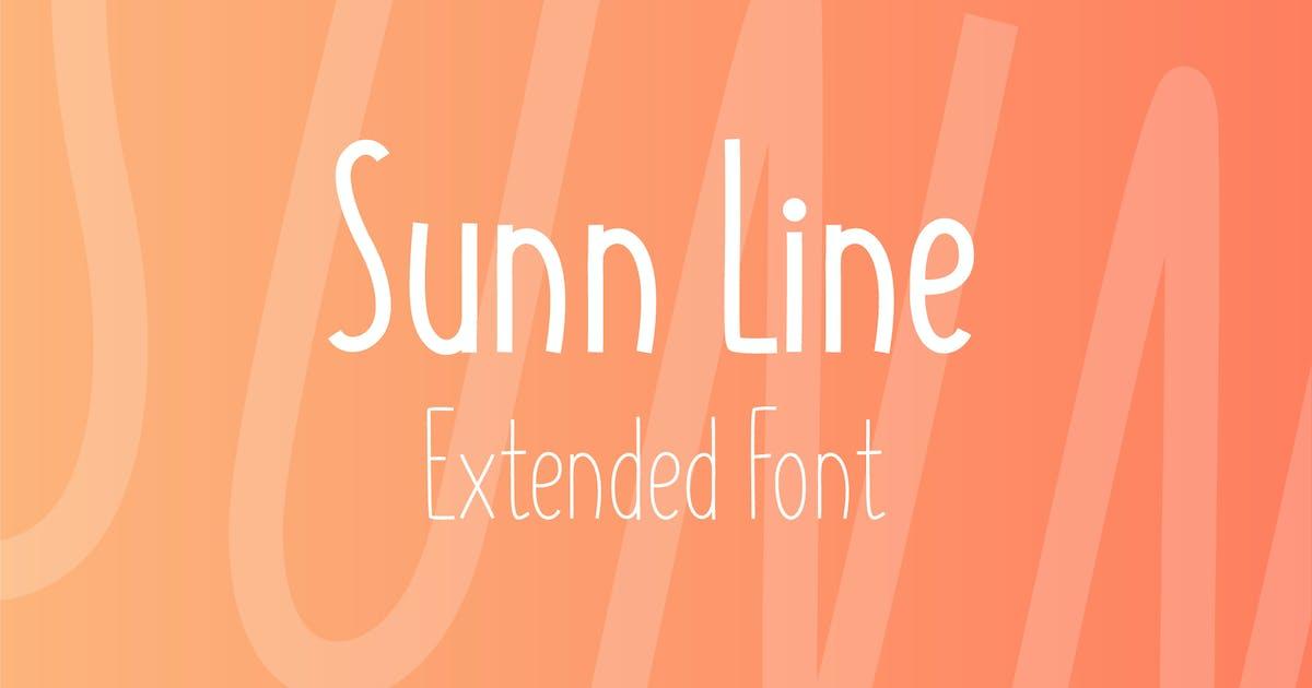 Download SUNN Line Extended Font by WildOnes