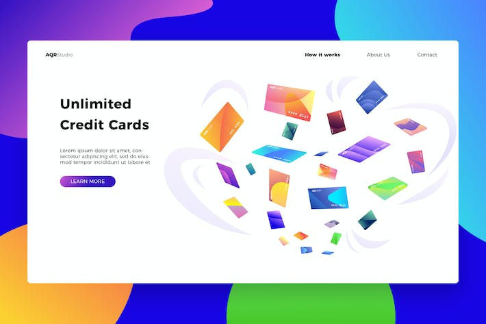 Cover Image For Credit Cards - Banner & Landing Page