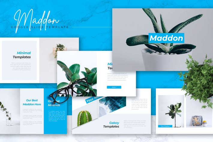 Thumbnail for MADDON - Company Profile Google Slides Template