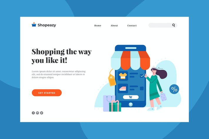 Thumbnail for Online Shopping Landing Page
