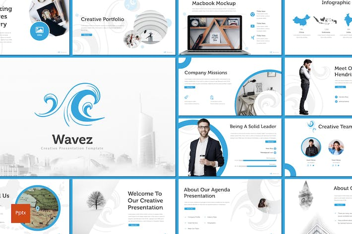 Thumbnail for Wavez - Powerpoint Template