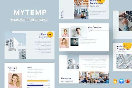 Mytemp - Corporate Minimal Presentation