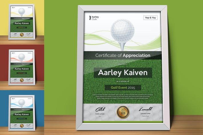 Thumbnail for Golf Certificate