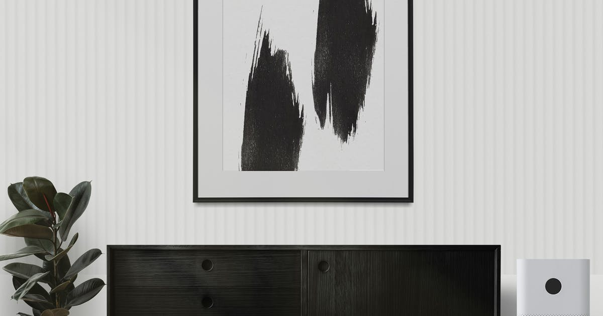Download Abstract paint frame mockup on white wall by Rawpixel