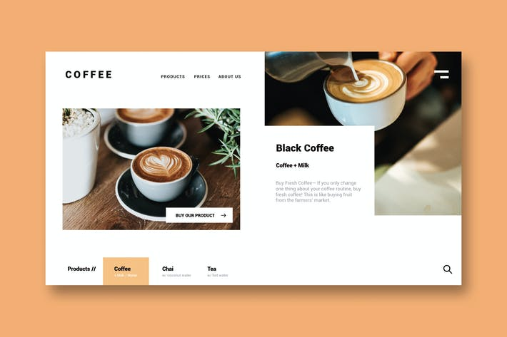 Cover Image For Coffee Shop - Landing Page