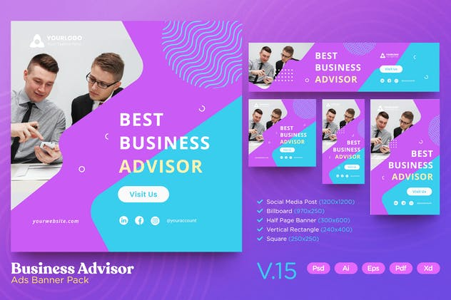 Ads Banner Pack Vol.15 Business Advisor