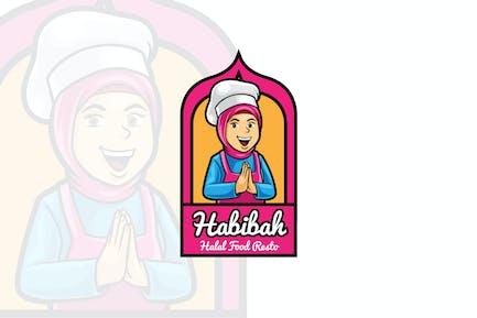Habibah - Female Chef Logo Mascot