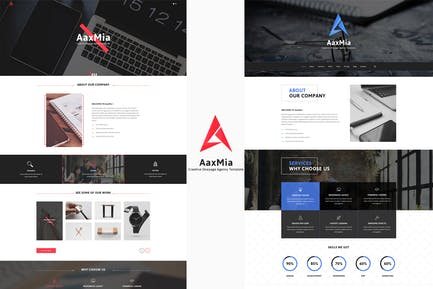 AaxMia - One page Agency and Portfolio Template