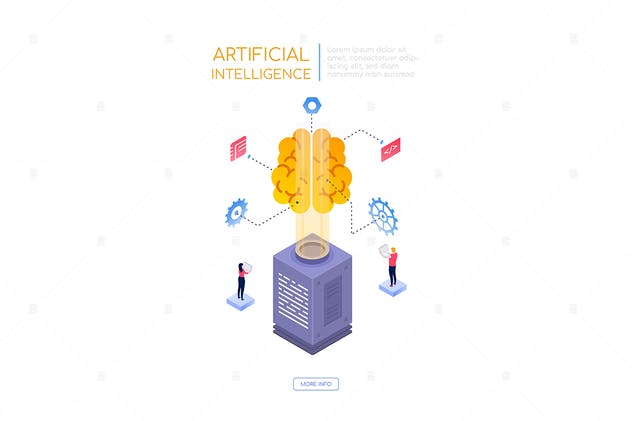 Artificial intelligence - isometric banner
