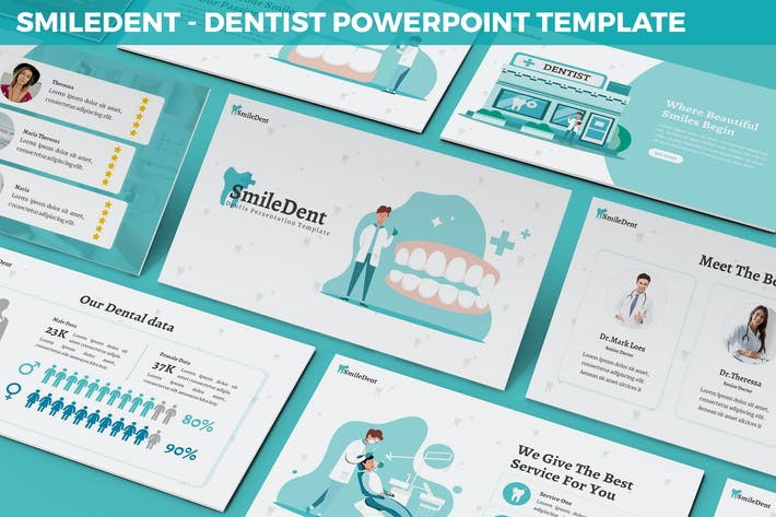SmileDent - Dentist Powerpoint Template