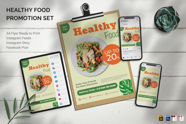 Thumbnail for Healthy Food - Promotion Set