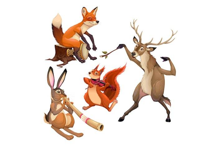 Thumbnail for Gruppe Musiker Tiere mit Dirigent