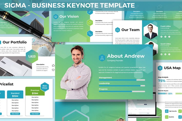 Cover Image For Sigma - Business Keynote Template