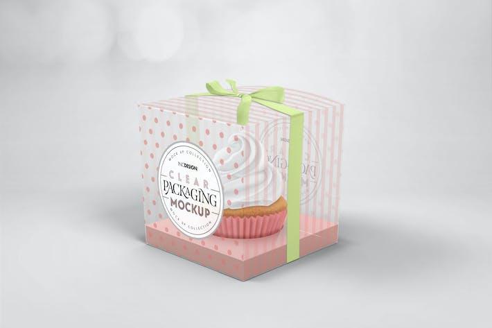 Thumbnail for Clear Cupcake Box Packaging Mockup