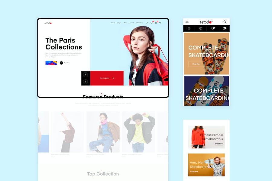 Reddot - Минимальная и современная Тема WooCommerce